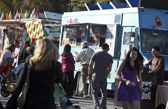The food trucks at Santa Monica's Tuesday night lot operate from 5:30 to 9:30 p.m. on Tuesday nights at the Heritage Museum parking lot located at 2612 Main Street.