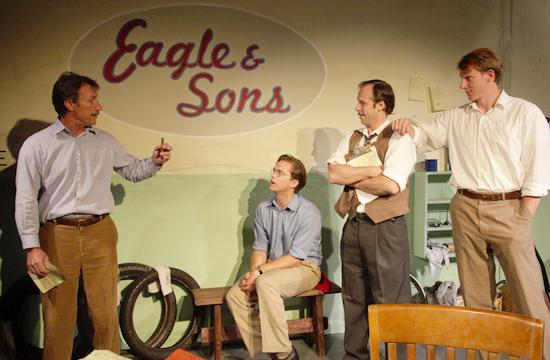 """Cast members of """"A Memory of Two Mondays"""" l-r: Paul Denk"""