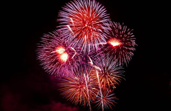 Public Domain image of Fireworks (see link at bottom of story)