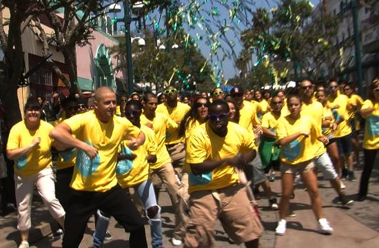 Confetti and dancing helped kicked off a celebration Wednesday morning that the Bayside District Corporation will now be called Downtown Santa Monica