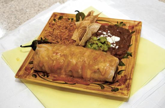 Benny's Macho Wet Burrito is made with a home made giant tortilla and other fresh ingredients.