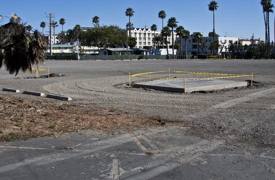 Preparation work has begun on the approximately six acre site across the street from Santa Monica City Hall where a future park is set to spring up.