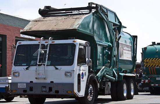 City of Santa Monica's waste disposal trucks rest at the Resource Recovery and Recycling headquarters on Michegan Avenue on July 19. As no landfill exists in the Santa Monica