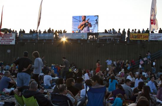 I large LED screen hanging off the side of the Santa Monica Pier has given beachgoers a good look at the performers of the first three performance nights of the 2011 Twilight Dance Series.