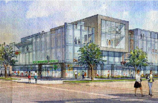 A rendition of the four storey headquarters of Lionsgate