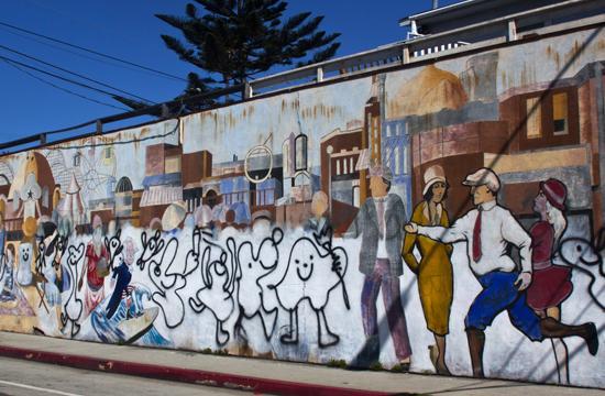 "The mural ""Ocean Park Pier"""