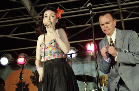Jennifer Keith traded off vocals with Royal Crown Revue front man Eddie Nichols as the headlining act of the Aug. 11 Twilight Dance Series