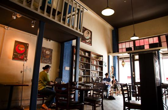 212 Pier Avenue is one of the last refuges for bohemian café goers looking for a comfortable environment in which to read