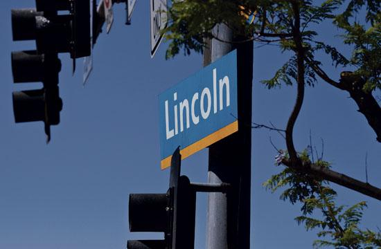 Lincoln Boulevard sign.