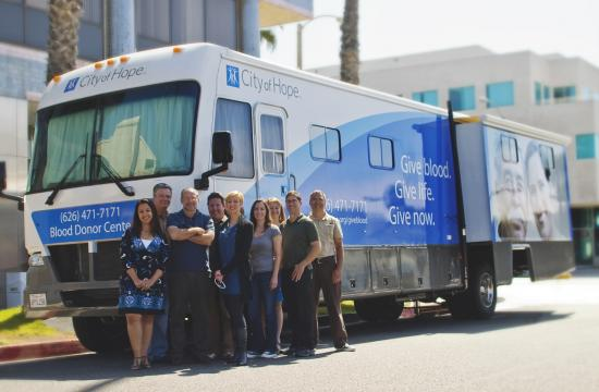 Members of The Phelps Group's City of Hope team were instrumental in making Tuesday's blood drive a success.