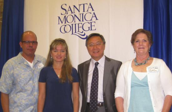 Winners of the SMC Foundation's 2011 Chair of Excellence Awards with SMC President Dr. Chui L. Tsang (third from left) are: business professor Sal Veas