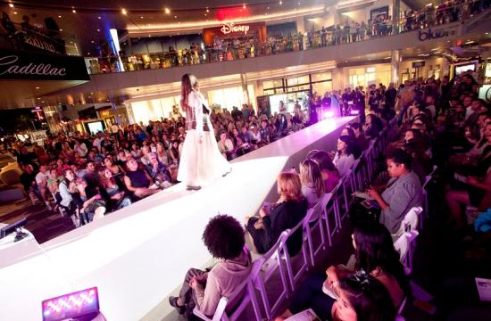 Fashion's Night Out last night in Downtown Santa Monica.