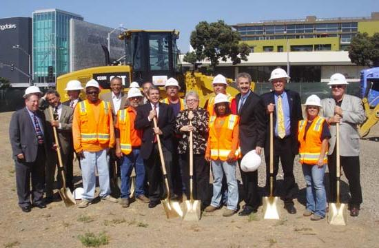 Some of the officials at the groundbreaking ceremony for Phase 2 of the Expo Line.
