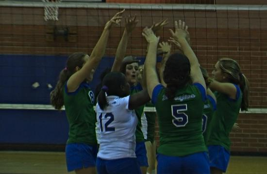 The Pacifica Christian Sea Wolves volleyball team took care of in-town opponent St. Monica on Monday.
