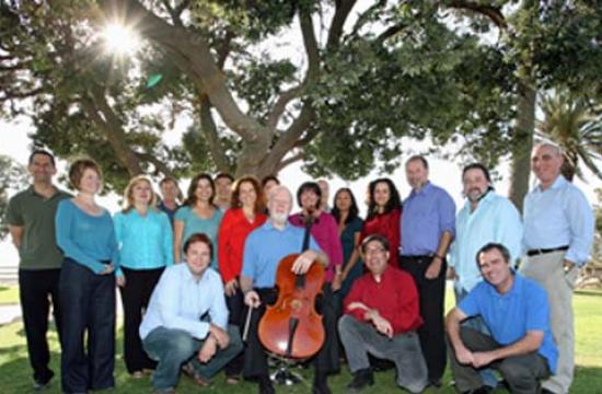 Lynn Harrell (center) and the Angeli Ensemble.