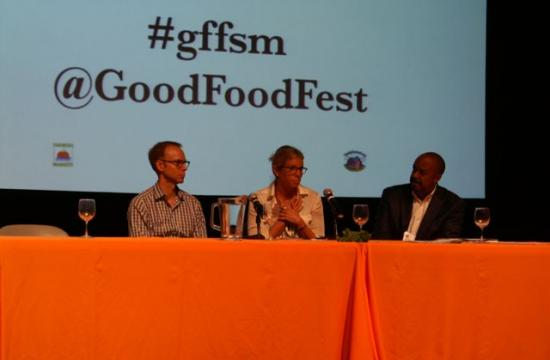 From left: Chipotle Mexican Grill CEO Steve Ells