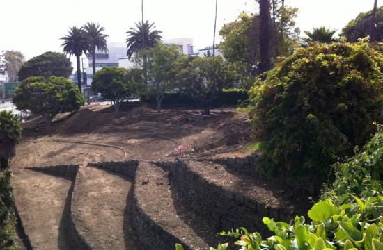 Site preparation for the 6-acre future Santa Monica Civic park site is well underway.