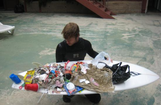 Benjamin Kay says he comes across the same single-use culprits in the ocean: plastic films/wrappers