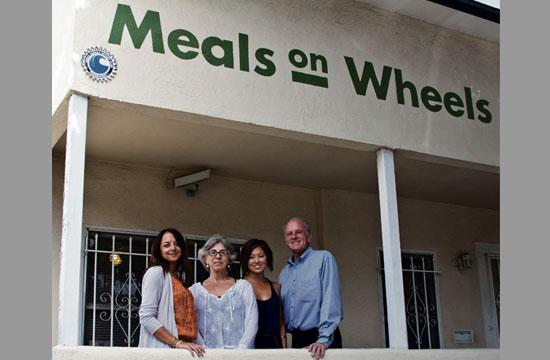 Rotary Club of Santa Monica is a key contributor working with Meals on Wheels West to help the operation continue delivering meals to those in need. From left: Santa Monica Rotarians Roxana Janka
