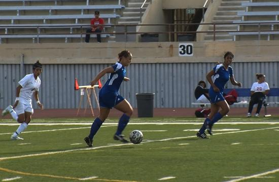 SMC's Briana Mackey advances the ball late in the conference opener against Bakersfield on Friday.