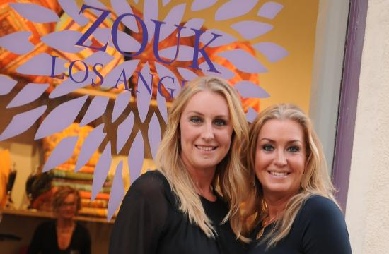 Jenny Best and Katharina Tagliaferro at the opening party of their new store