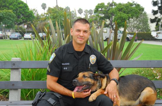 SMPD Officer Roberto Villegas was awarded the Santa Monica Chamber of Commerce's Inspirational Hero Award on Wednesday