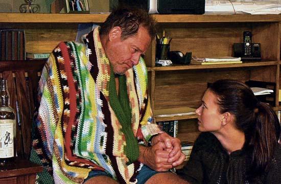 Brian Kerwin as Dakin Adams with his daughter Ellen