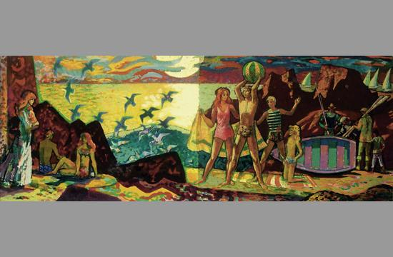 The design for the mural at the former Home Savings located at 2600 Wilshire Boulevard