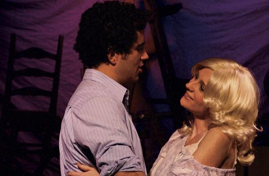 From left: Adam Korson as Isaac Adams and Corryn Cummins as his wife Shelley.