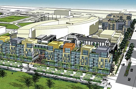 A rendering of the proposed Civic Center Village