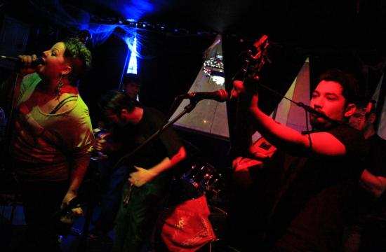 """The Bad Bad Things performed at Trip on Saturday night at 8 pm leading a number of punk bands that followed. """"We have songs about dead girls and demon girls"""