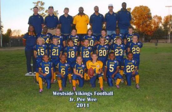 The Westside Viking youth football team took the Southern California Conference Junior Pee Wee championship with a 13-12 win over the Palos Verdes Falcons at West Torrance High School on Saturday.