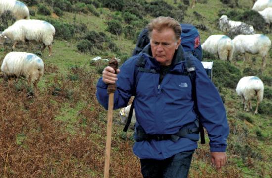 Martin Sheen as Tom on the Camino de Santiago.