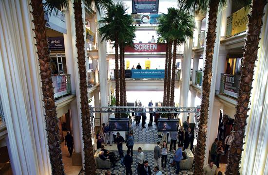 Loews Santa Monica Hotel has been transformed into the headquarters for the American Film Market through Nov. 9.