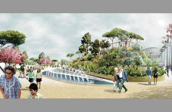 A rendering of the Palisades Garden Walk