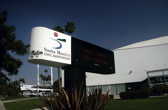 The Santa Monica Civic Auditorium.