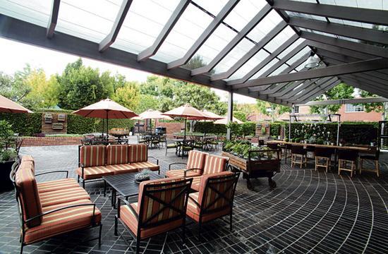 Tiato's garden patio is big enough for 500 people