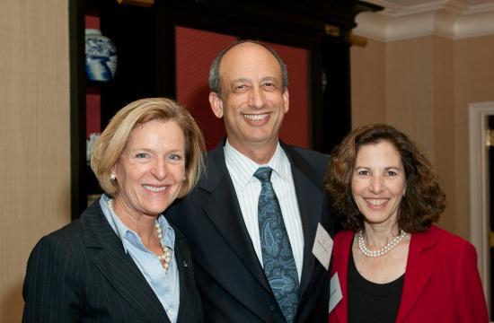 From left: American Cancer Society Regional VP Jayne Lastusky; Joan Goldfeder's husband Jonathan Gross; Joan Goldfeder.