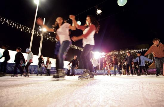 Skaters of all ages enjoy ICE at Santa Monica which will remain open through January 16.