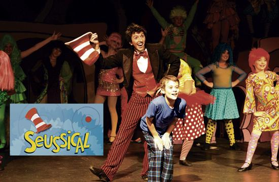 """Sergio Christofalo as Cat in the Hat and Grant Venable as JoJo in """"Seussical"""