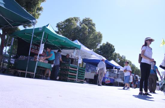 Santa Monica Farmers Markets is a great place to source local produce.