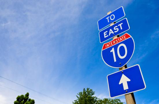 Updated signage on the I-10 Freeway is expected to improve traffic flow along the stretch in Santa Monica.