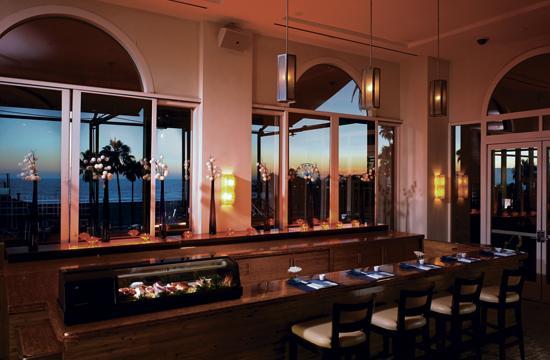 Ocean & Vine also presents its new oceanfront sushi bar