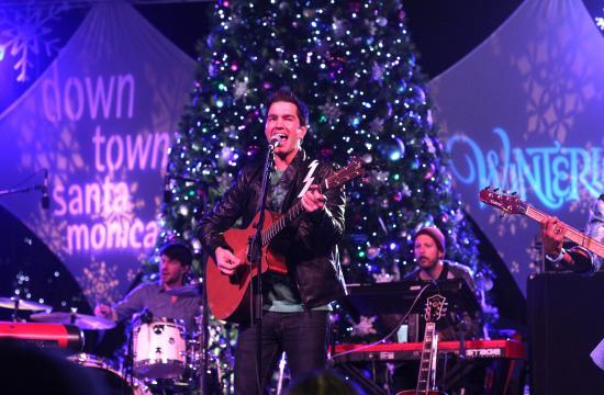 Singer/songwriter Andy Grammer headlined Downtown Santa Monica's WinterLit concert on Saturday night.