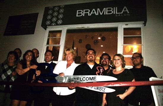 The Santa Monica Chamber of Commerce held a ribbon cutting ceremony for Brambila Salon on Dec. 1.