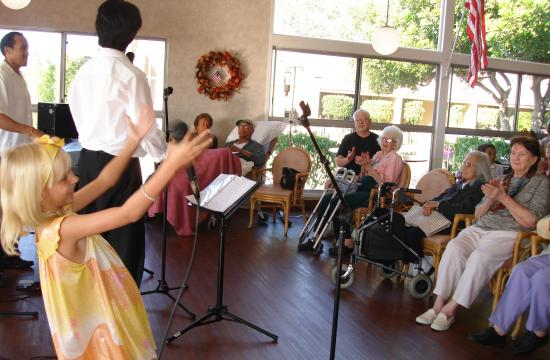 Pay it Forward band members are aged 9 to 90. They will perform at Good Shepherd Health Care