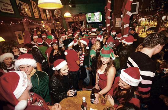 Some of last year's Pub Crawl revelers dressed in holiday attire all while helping Westside Food Bank raise money and collect food.