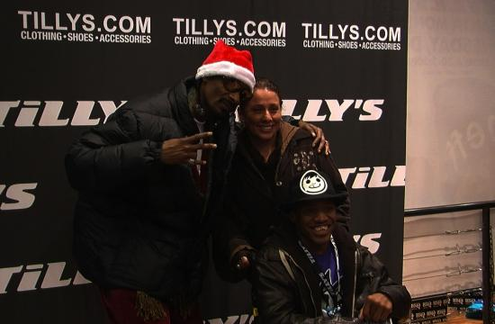 Rap artist Snoop Dogg made a guest appearance on Wednesday to promote Neff clothing at the new Tilly's store on the Third Street Promenade.