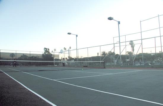Los Amigo Park's tennis courts will be surfaced as part of recent major capital improvements projects funding.