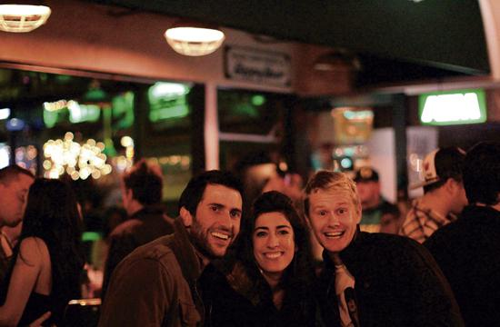 New Year's revelers party at Rick's on Main Street.